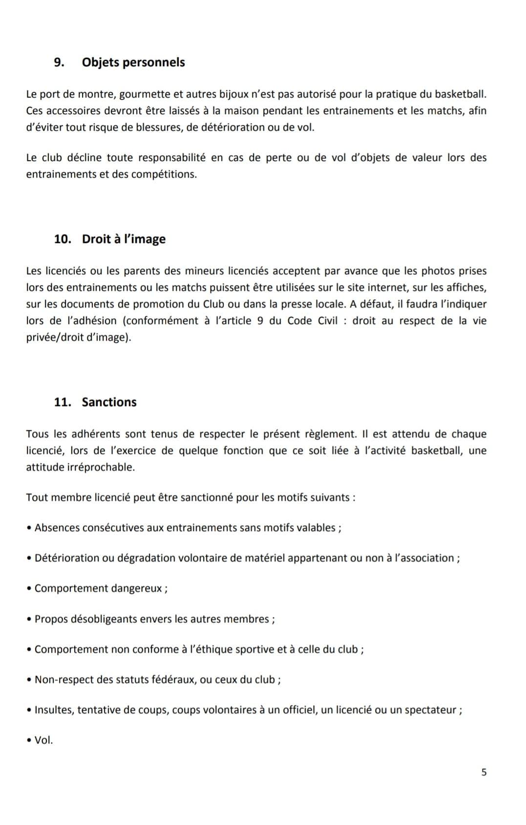 P5 Reglement